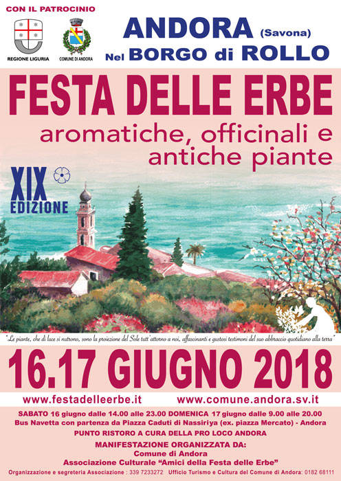Festa delle Erbe 2018 Rollo Andora