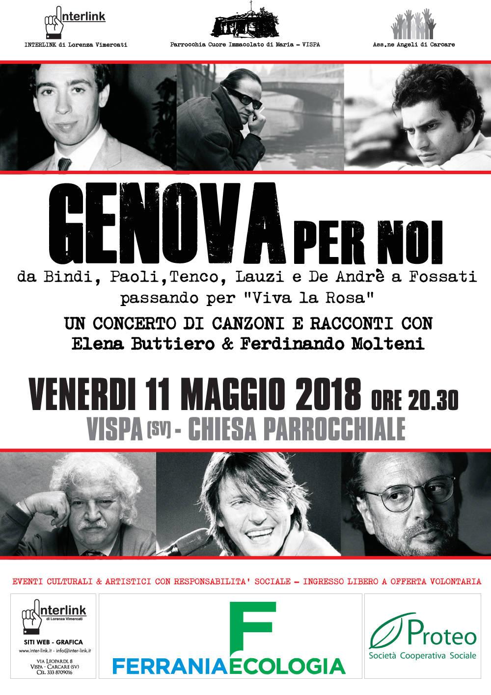 """""""Genova per noi"""" concerto Elena Buttiero e Ferdinando Molteni"""