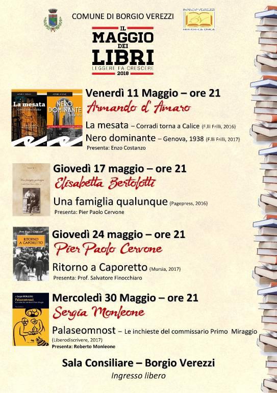 """""""Il Maggio dei Libri"""" 2018 Borgio Verezzi"""