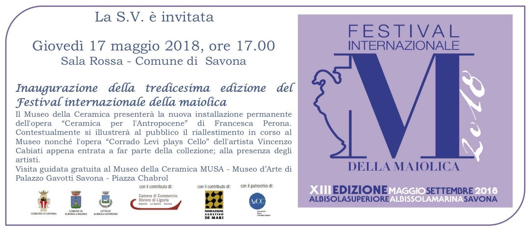 Inaugurazione Festival Internazionale Maiolica 2018