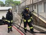 Incendio in un garage sotterraneo a Loano