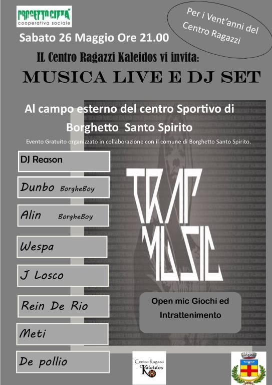 Musica live e dj set 20 anni Centro Ragazzi Borghetto
