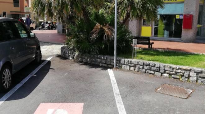 Nuovi parcheggi rosa Andora