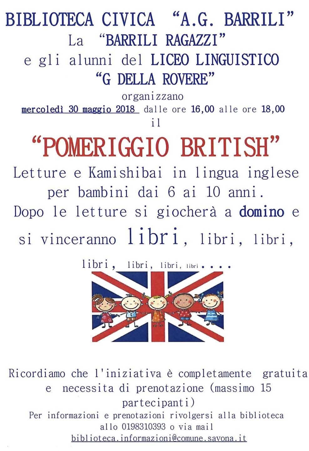 """""""Pomeriggio British"""" Biblioteca Civica Savona"""