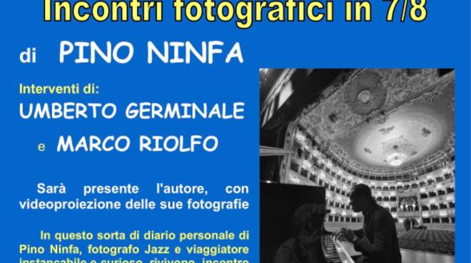 """Presentazione libro fotografico """"Racconti Jazz"""" Pino Ninfa"""