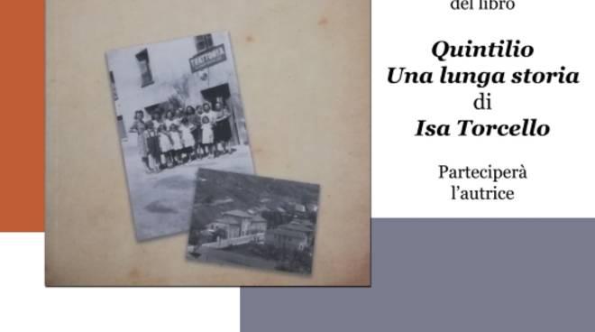 """Presentazione libro """"Quintilio. Una lunga storia"""" Isa Torcello"""