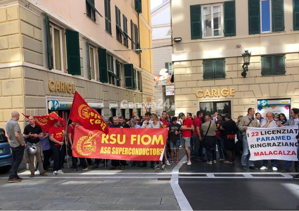 proteste lavoratori gruppo malacalza