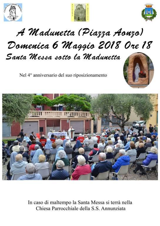 """Quarto anniversario """"Madunetta"""" in piazza a Spotorno"""