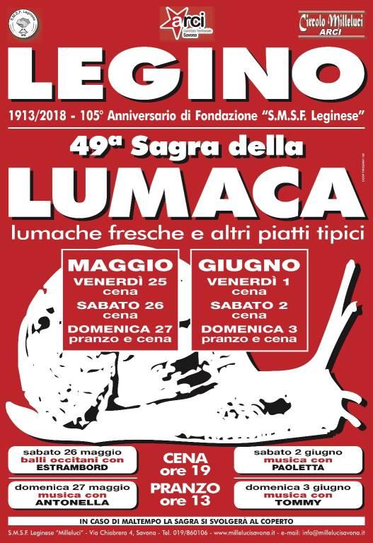 Sagra Lumache Legino 2018