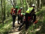 soccorso alpino sentiero biker
