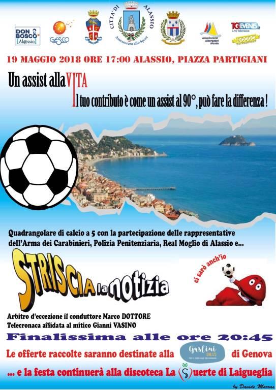 """Un assist alla vita"" quadrangolare Gaslini Onlus Genova"