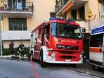vigili del fuoco, incendio in via Crocco
