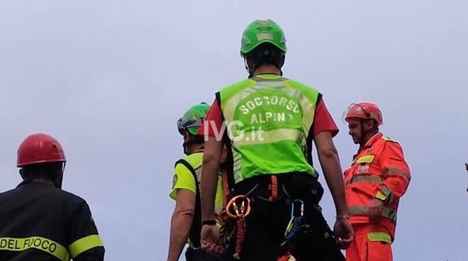 Vigili del fuoco recupero ferito Castelbianco