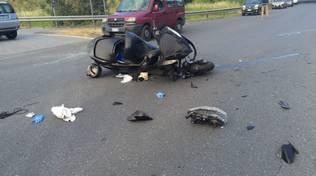 Violento scontro tra una moto ed un Suv ad Albenga