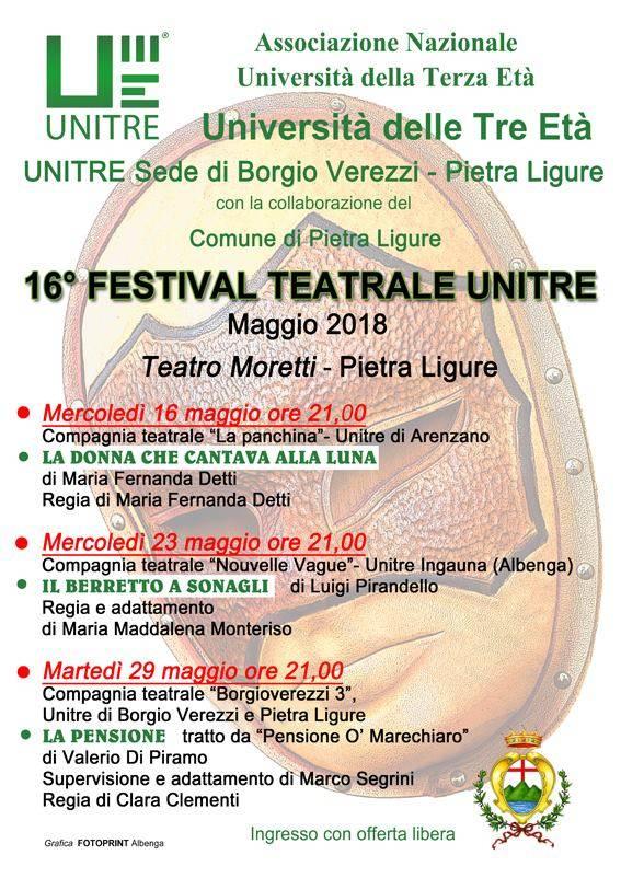 XVI Festival Nazionale Teatrale Unitre Pietra Ligure