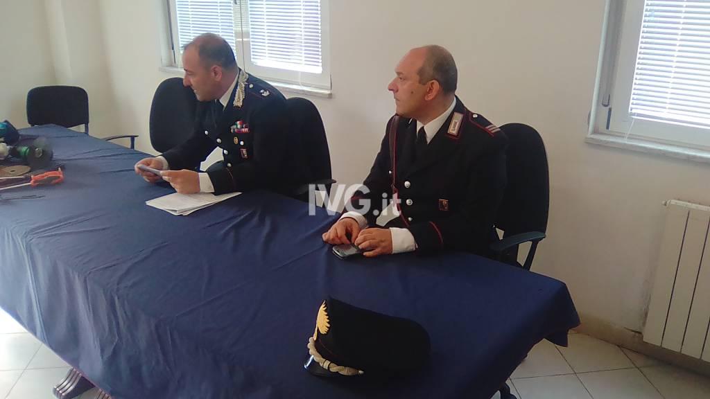 Albenga, conferenza stampa dei carabinieri 20 giugno
