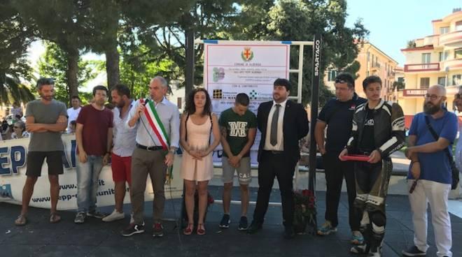 Albenga, inaugurata la nuova area sportiva in piazza Europa