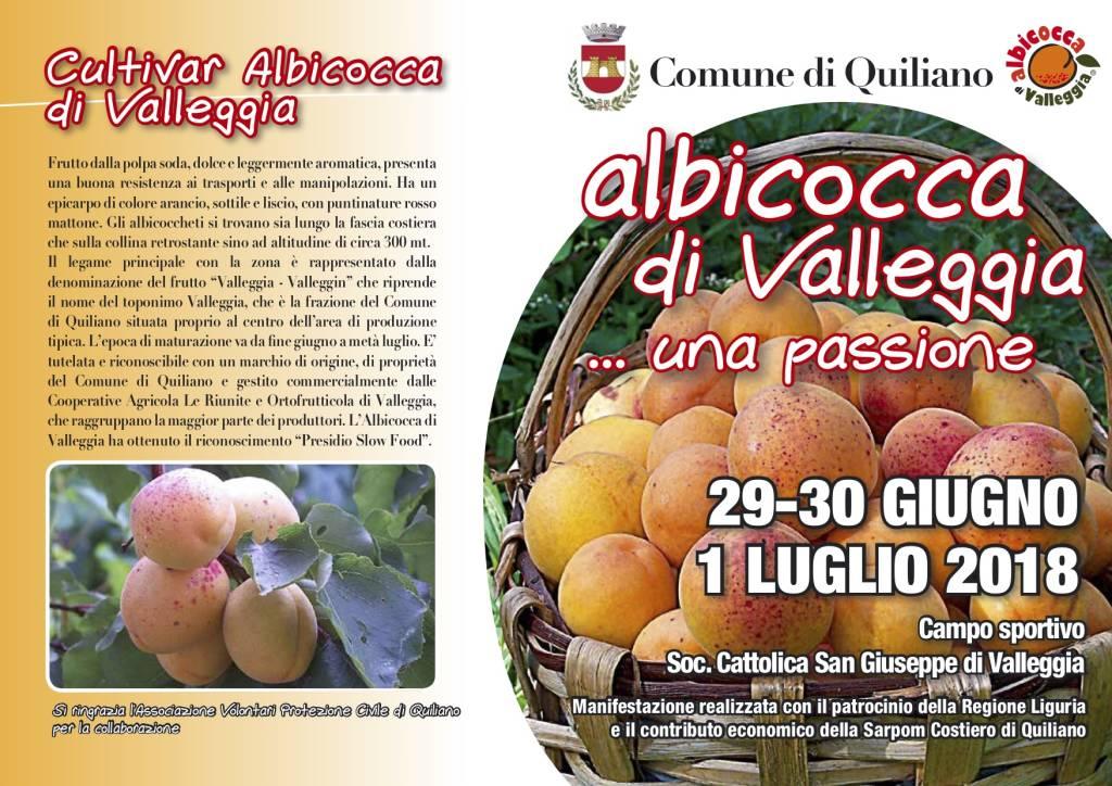"""""""Albicocca di Valleggia... una passione"""" 2018"""