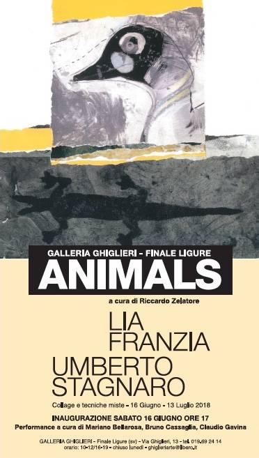 """""""Animals"""" mostra collage tecniche miste"""