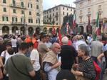Aquarius, il presidio di protesta in piazza Mameli