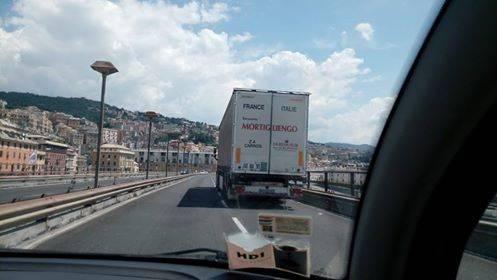 camion in sopraelevata