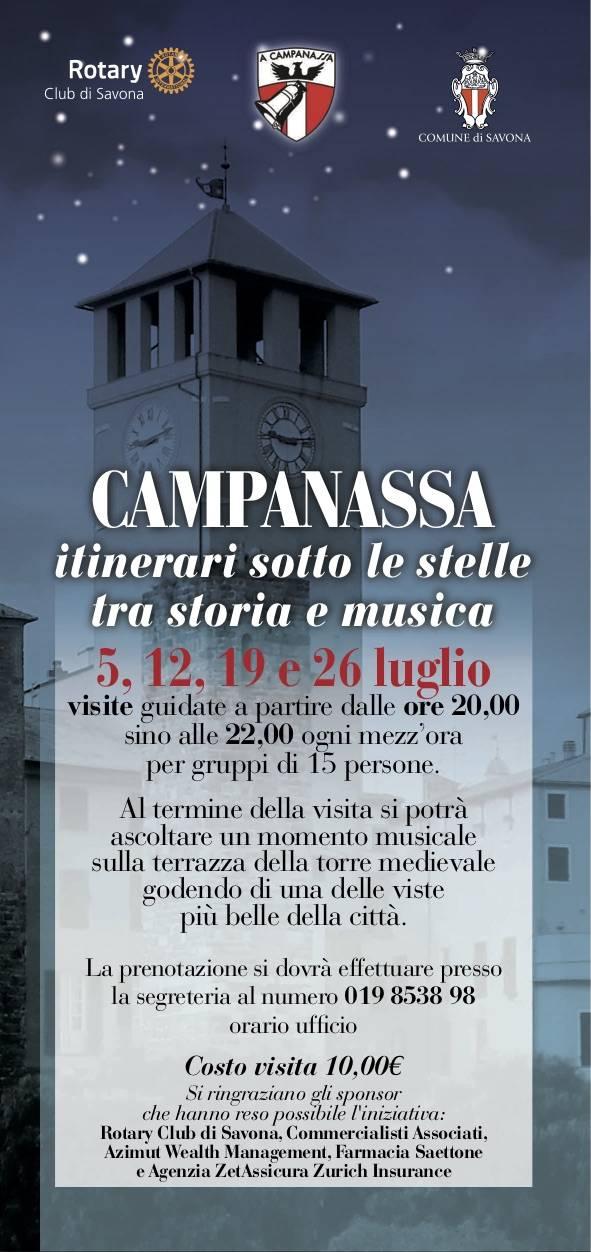 Campanassa visite guidate notturne estate 2018
