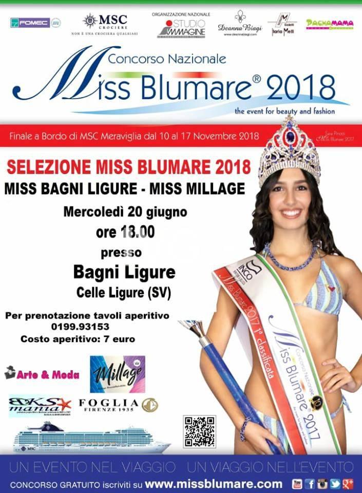 Miss Blumare 2018, Apericena e Dj Set