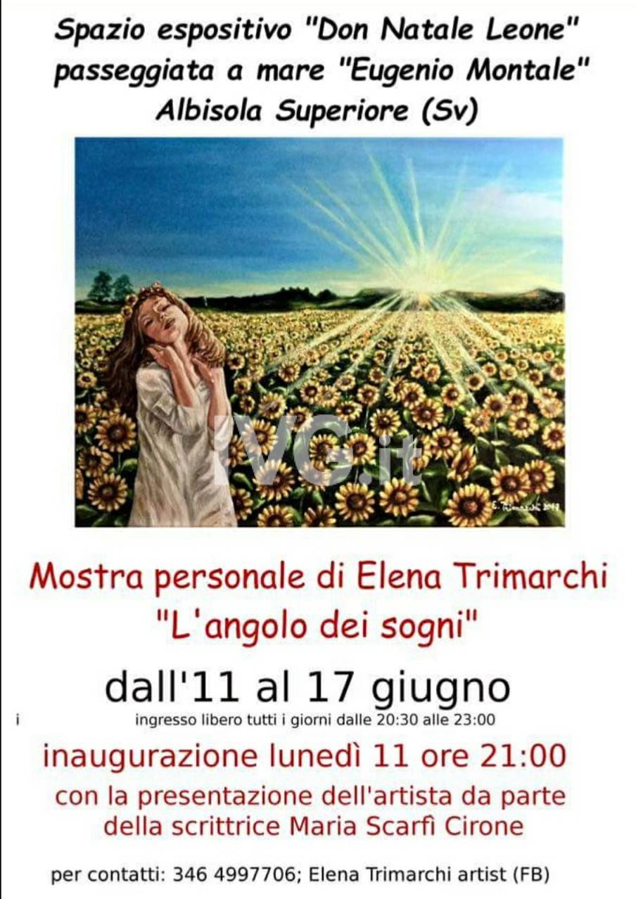 """Mostra personale Di Elena Trimarchi \""""L\'angolo dei sogni\"""""""