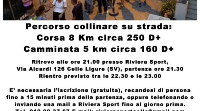 1^ Corsa e Camminata in notturna sulle alture di Celle Ligure