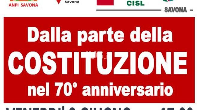 """Venerdì pomeriggio a Savona: la Conferenza """"Dalla parte della Costituzione"""""""