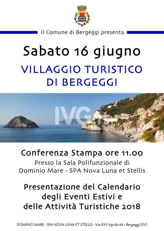 Sabato 16 giugno: presentazione del calendario degli appuntamenti estivi e delle attività turistiche di Bergeggi