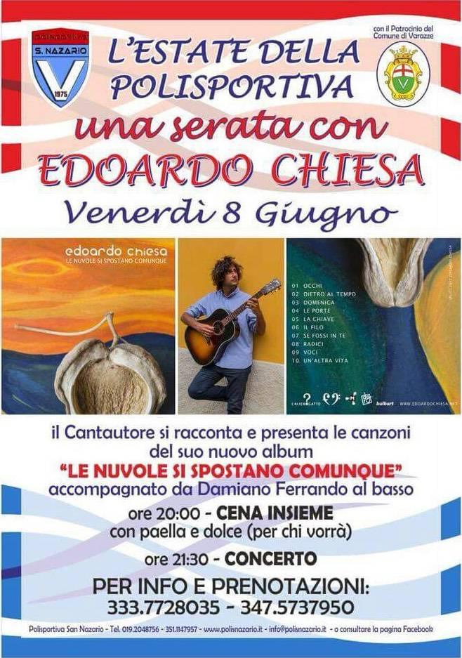 Edoardo Chiesa concerto Polisportiva San Nazario Varazze
