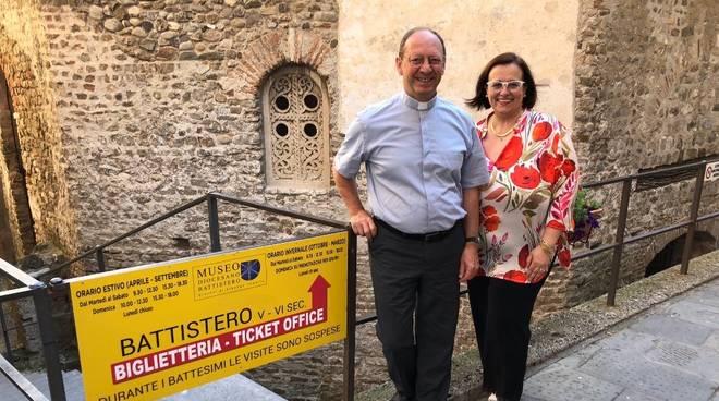 Elena Fossati Don Mauro Marchiano museo diocesano albenga