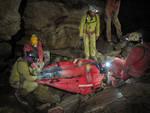 Esercitazione Soccorso Alpino fiume sotterraneo