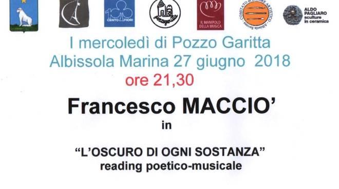 """""""L'oscuro di ogni sostanza"""" reading poesia musica Pozzo Garitta"""