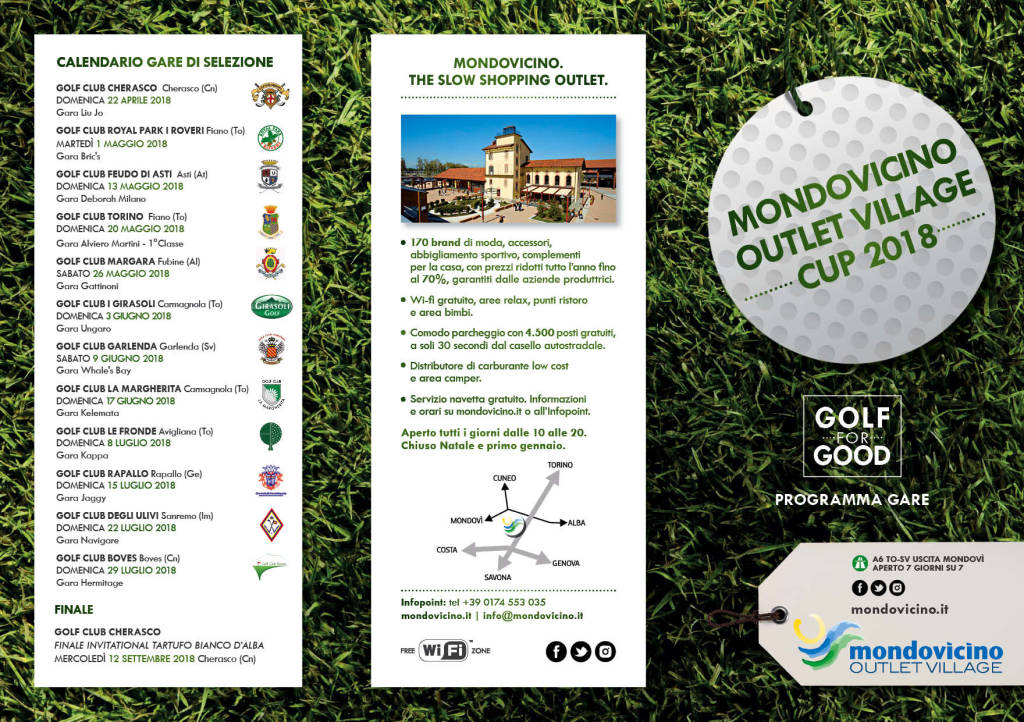 """Mondovicino Outlet Village Cup 2018 - """"Golf for Good"""""""