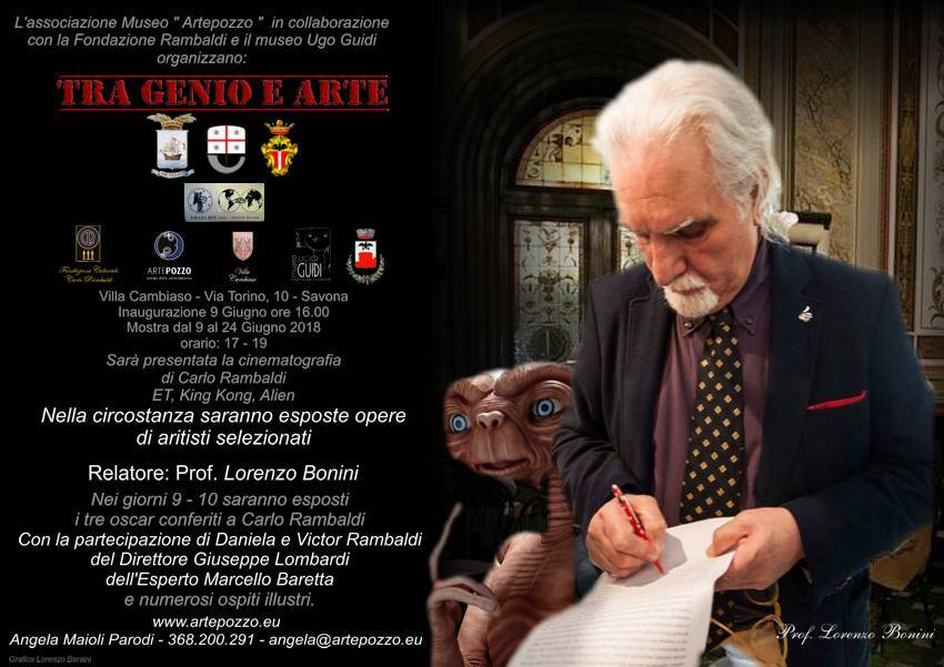 Mostra Carlo Rambaldi Villa Cambiaso Savona