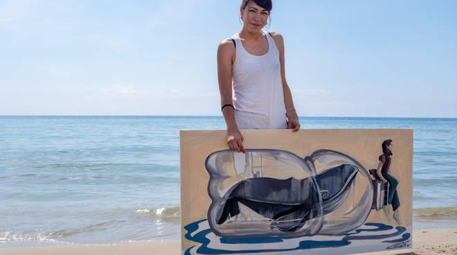 """Opere Alessandra Carloni mostra """"Moby Dick"""""""