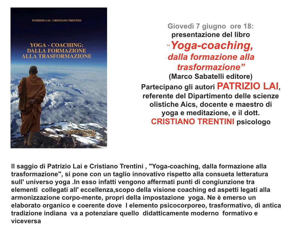"""Presentazione libro """"Yoga coaching, dalla formazione alla trasformazione"""""""