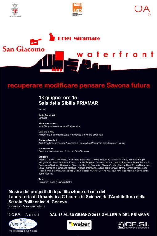 Progetti Miramare San Giacomo waterfront Savona