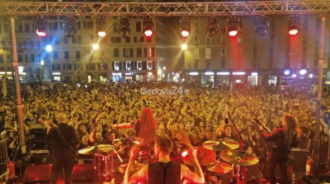 Rhapsody of Fire in piazza Matteotti