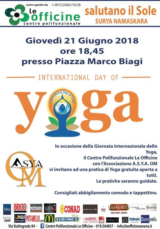 """""""Saluto al Sole"""" Giornata Internazionale Yoga"""