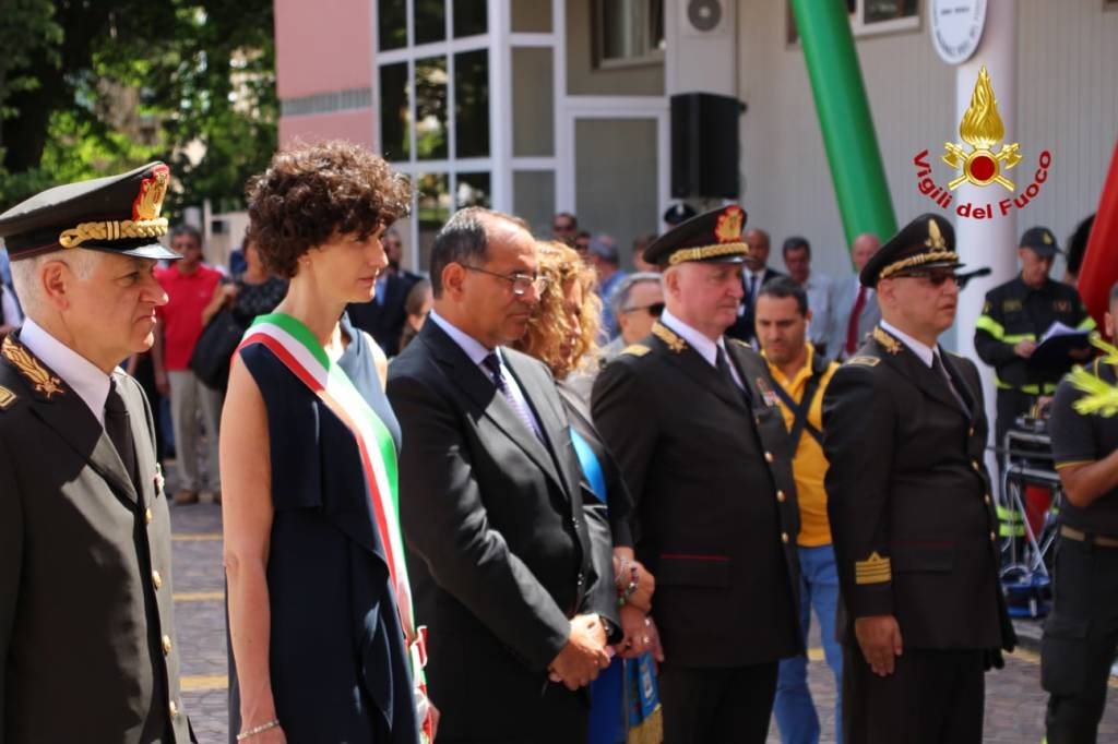 Savona, l'inaugurazione della nuova caserma dei vigili del fuoco