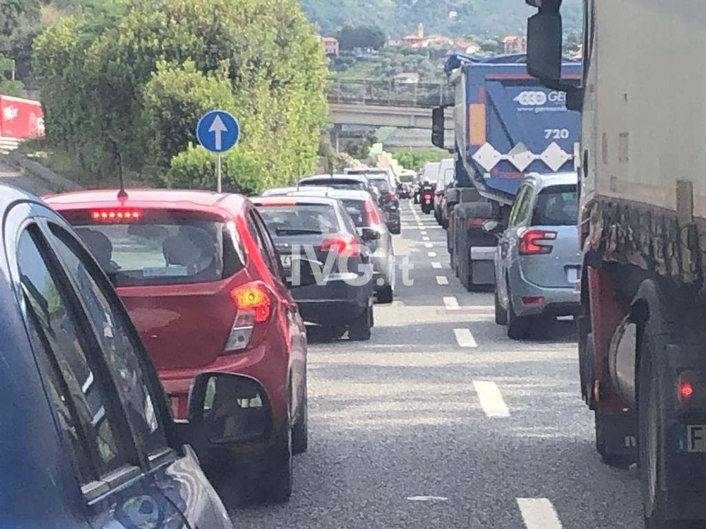 Scontro frontale in A10 tra Celle e Varazze