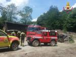 vigili del fuoco Vvff soccorsi recupero zona impervia bosco sentiero
