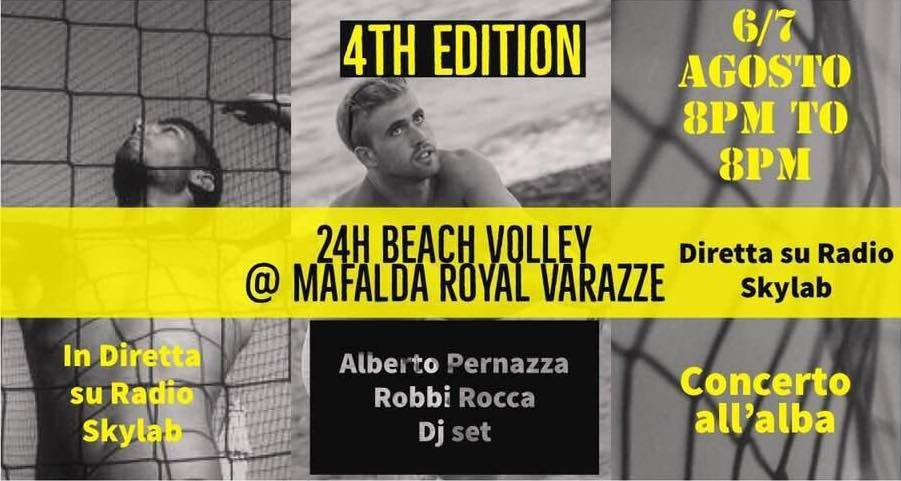 4th Edition 24H Beach Volley Bagni Mafalda Royal Varazze