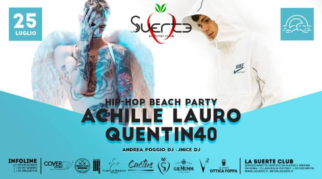 Achille Lauro Quentin 40 Hip-Hop Beach Party La Suerte