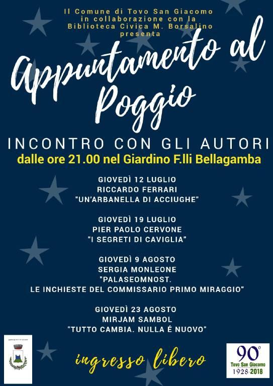 """""""Appuntamento al Poggio - Incontro con gli autori"""""""