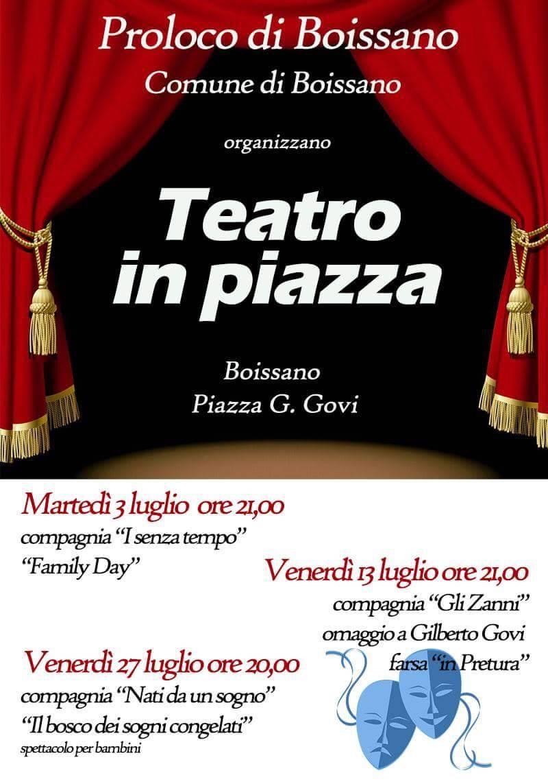 Boissano Teatro in Piazza 2018