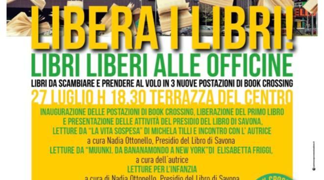 Bookcrossing centro commerciale Officine Savona
